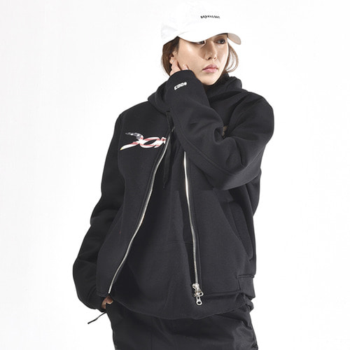도넥 집업 자켓 DONEK KOREA LIMITED FLAG JKT BLACK