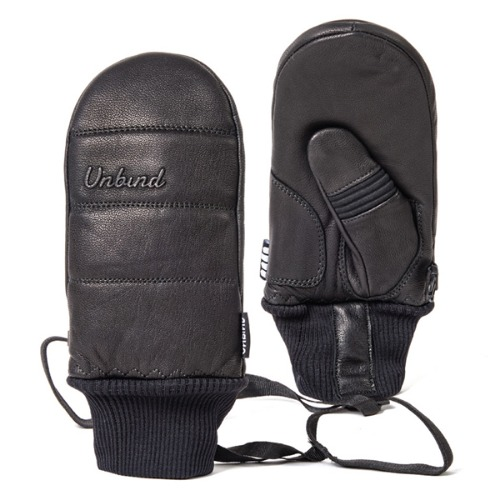 1819 UNBIND X ICAN TITAN LEATHER MITTEN BLACK 스노우보드 벙어리장갑