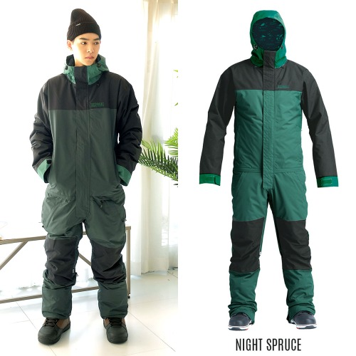 2021 AIRBLASTER INSULATED FREEDOM SUIT NIGHT SPRUCE 에블 원피스 점프수트 보드복