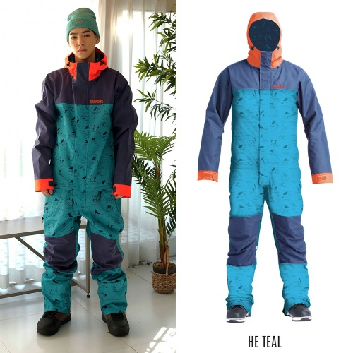 2021 AIRBLASTER STRETCH FREEDOM SUIT HE TEAL 에블 원피스 점프수트 보드복